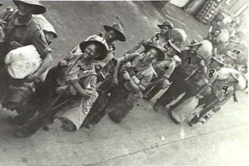 Ken Creighton (3) boarding ship bound for New Guinea