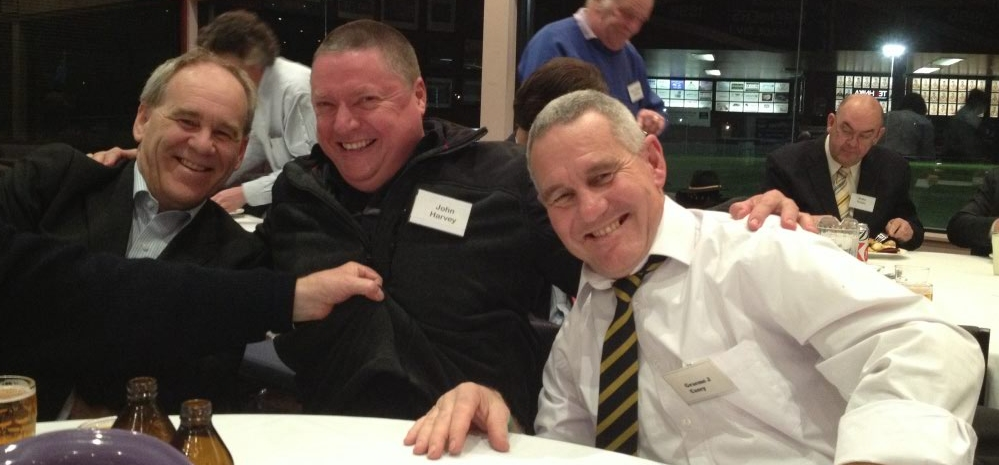 L-R: Ross Walker, John Harvey and Graeme Casey